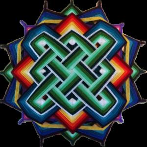 Ojo de Dios – Style tibétain entrelas – 40 cm
